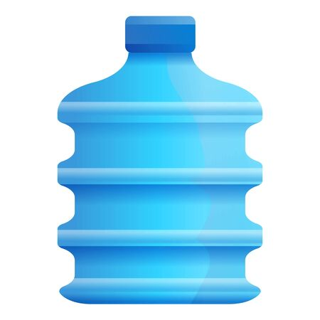 Natural aqua bottle icon. Cartoon of natural aqua bottle icon for web design isolated on white background
