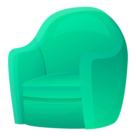 Icona della poltrona in tessuto. Cartoon di poltrona in tessuto icona vettoriali per il web design isolato su sfondo bianco