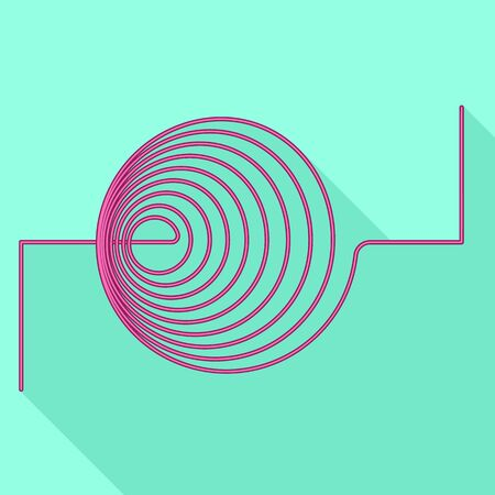 Thin coil icon. Flat illustration of thin coil vector icon for web design