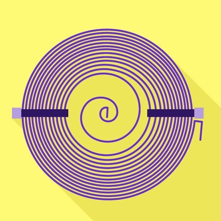 Circle coil icon. Flat illustration of circle coil vector icon for web design Illustration