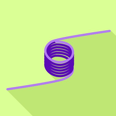 Violet coil icon. Flat illustration of violet coil vector icon for web design