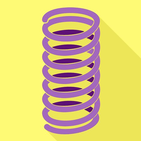 Jump spring icon. Flat illustration of jump spring vector icon for web design