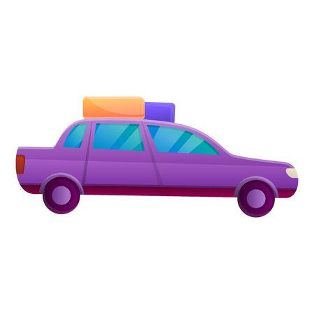 Abenteuer-Familienauto-Symbol. Cartoon des Abenteuerfamilienauto-Vektorsymbols für das Webdesign lokalisiert auf weißem Hintergrund