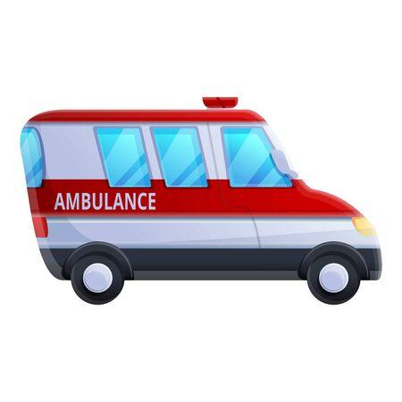 Ambulance vehicle icon. Cartoon of ambulance vehicle vector icon for web design isolated on white background Illustration