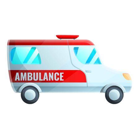 Hospital ambulance icon. Cartoon of hospital ambulance vector icon for web design isolated on white background