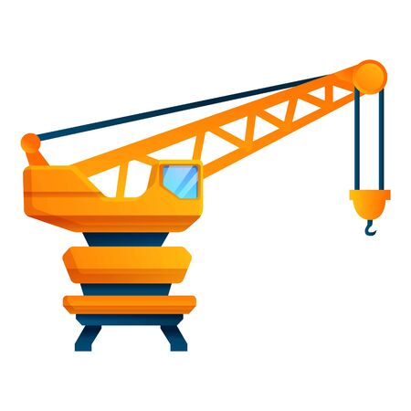 Ship port crane icon. Cartoon of ship port crane vector icon for web design isolated on white background
