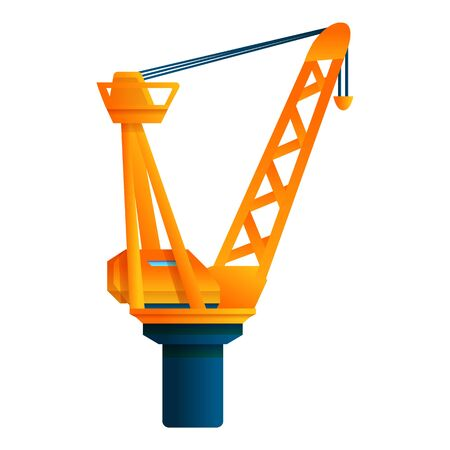 Modern port crane icon. Cartoon of modern port crane vector icon for web design isolated on white background Banque d'images - 133100691
