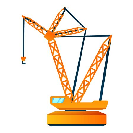 Load crane icon. Cartoon of load crane vector icon for web design isolated on white background