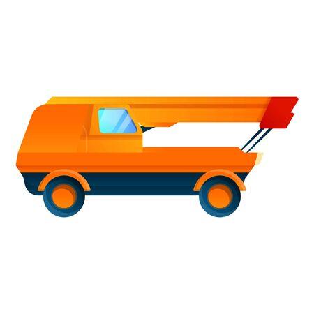 Crane industrial machine icon. Cartoon of crane industrial machine vector icon for web design isolated on white background  イラスト・ベクター素材