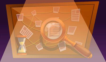 Escape quest game concept banner. Cartoon illustration of escape quest game vector concept banner for web design  イラスト・ベクター素材