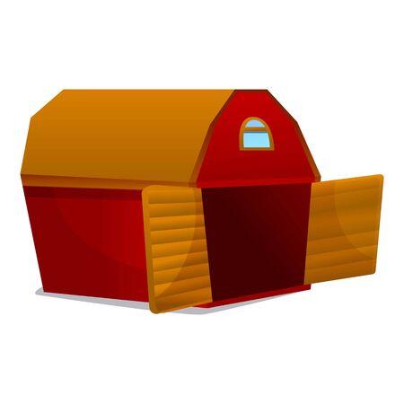 Farm barn icon. Cartoon of farm barn vector icon for web design isolated on white background