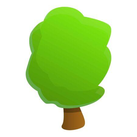 Garden tree icon. Cartoon of garden tree vector icon for web design isolated on white background