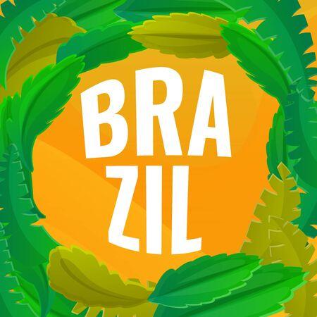 Brazil concept banner. Cartoon illustration of Brazil vector concept banner for web design