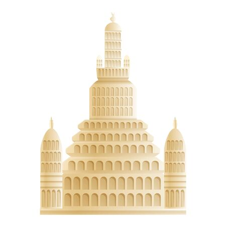 Wat Arun temple icon. Cartoon of Wat Arun temple vector icon for web design isolated on white background