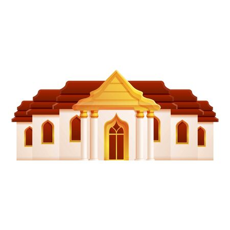 Thailand Grand palace icon. Cartoon of Thailand Grand palace vector icon for web design isolated on white background