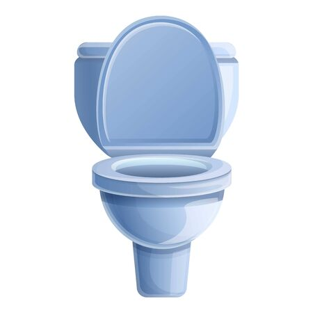 Sanitary toilet icon. Cartoon of sanitary toilet vector icon for web design isolated on white background  イラスト・ベクター素材