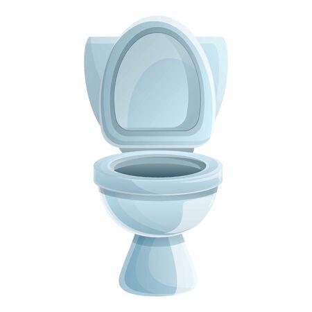 Washroom toilet icon. Cartoon of washroom toilet vector icon for web design isolated on white background