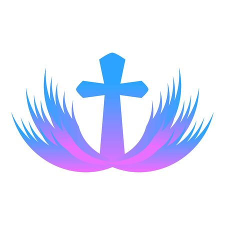 Purple church icon. Cartoon of purple church vector icon for web design isolated on white background