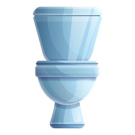 Toilet icon. Cartoon of toilet vector icon for web design isolated on white background  イラスト・ベクター素材