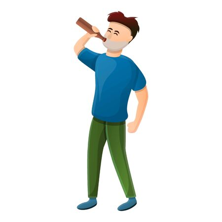 Alcohol addiction icon. Cartoon of alcohol addiction vector icon for web design isolated on white background