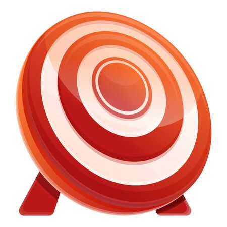 Target icon. Cartoon of target vector icon for web design isolated on white background