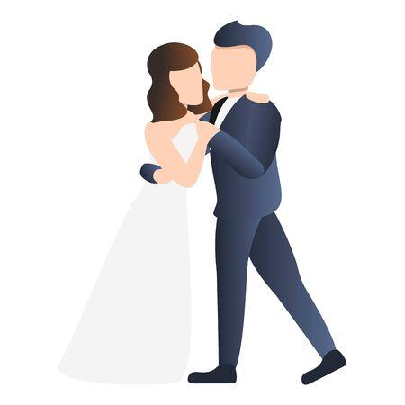 Party bride icon. Cartoon of party bride vector icon for web design isolated on white background Illusztráció