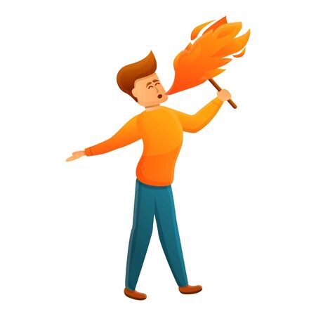 Fire show icon. Cartoon of Fire show vector icon for web design isolated on white background