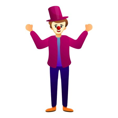 Clown icon. Cartoon of clown vector icon for web design isolated on white background Illusztráció