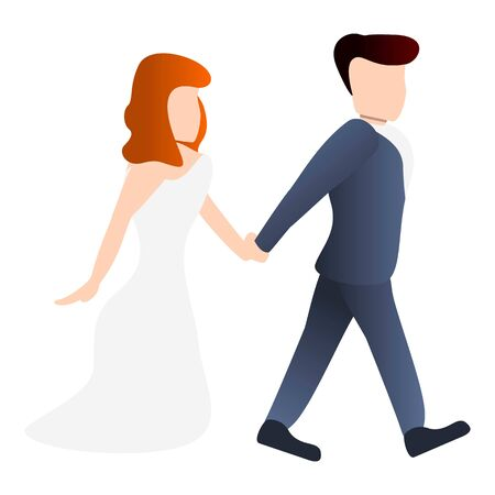 Bride icon. Cartoon of bride vector icon for web design isolated on white background Archivio Fotografico - 133432001