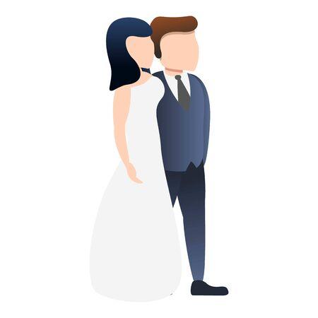 Bride wedding icon. Cartoon of bride wedding vector icon for web design isolated on white background Illusztráció