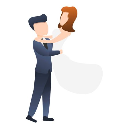 Husband take bride icon. Cartoon of husband take bride vector icon for web design isolated on white background