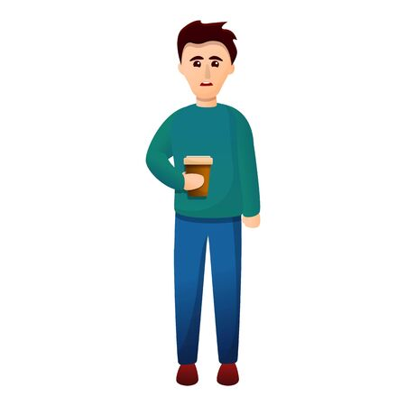 Coffee addiction icon. Cartoon of coffee addiction vector icon for web design isolated on white background Vektorové ilustrace