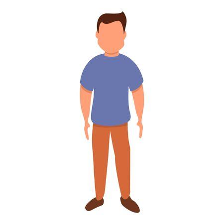 Male figure icon. Cartoon of male figure vector icon for web design isolated on white background Archivio Fotografico - 133432016