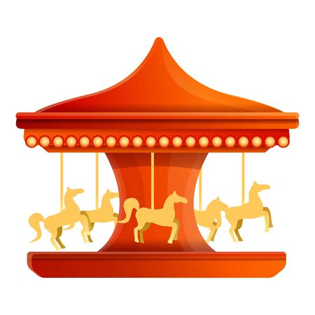 Carousel icon. Cartoon of carousel vector icon for web design isolated on white background