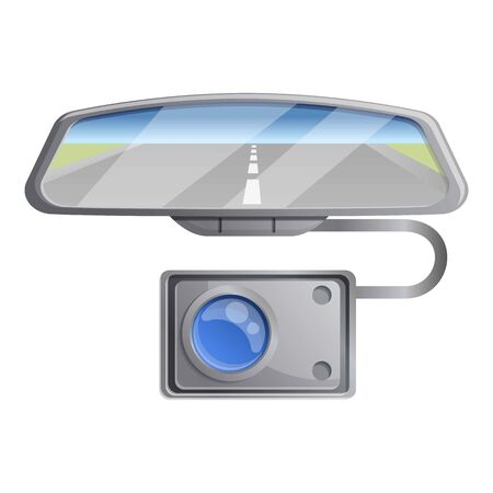Car mirror dvr camera icon. Cartoon of car mirror dvr camera vector icon for web design isolated on white background