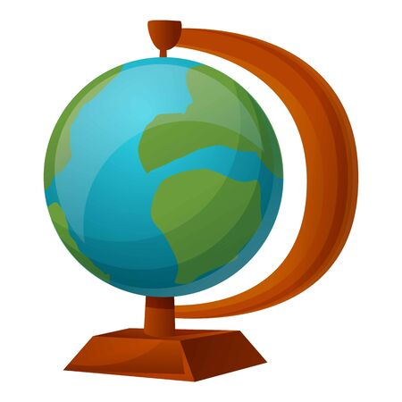 Globe icon. Cartoon of globe vector icon for web design isolated on white background