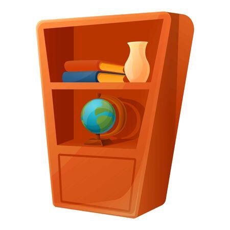 Wardrobe icon. Cartoon of wardrobe vector icon for web design isolated on white background