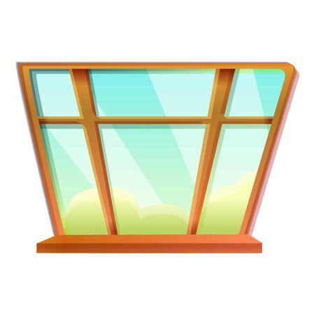 Large window icon. Cartoon of large window vector icon for web design isolated on white background Illustration