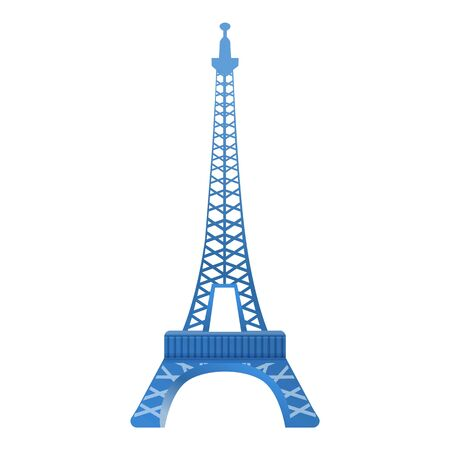 Paris eiffel tower icon. Cartoon of Paris eiffel tower vector icon for web design isolated on white background