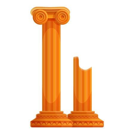 Ancient columns icon. Cartoon of ancient columns vector icon for web design isolated on white background