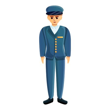 Soldier blue uniform icon. Cartoon of soldier blue uniform vector icon for web design isolated on white background Ilustração