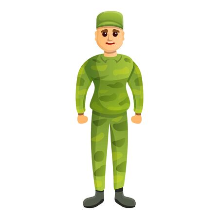 Soldier icon. Cartoon of soldier vector icon for web design isolated on white background