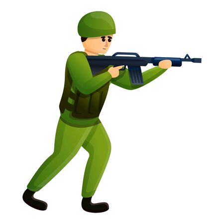 Infantry soldier icon. Cartoon of infantry soldier vector icon for web design isolated on white background