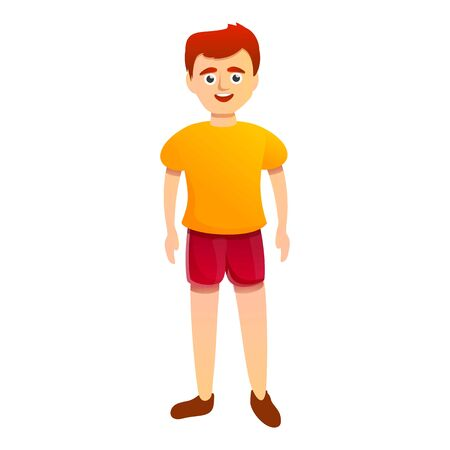 Red hair boy icon. Cartoon of red hair boy vector icon for web design isolated on white background 스톡 콘텐츠 - 133702054