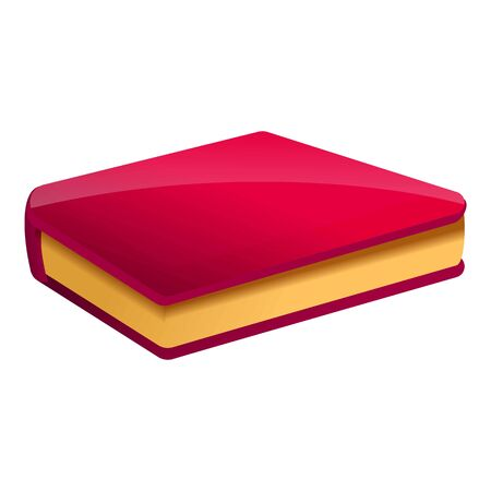 Red book icon. Cartoon of red book vector icon for web design isolated on white background