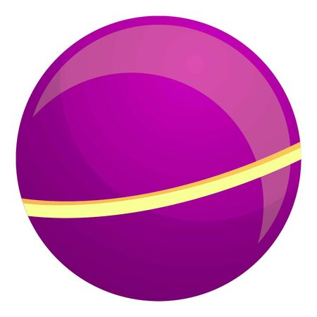 Purple kid ball icon. Cartoon of purple kid ball vector icon for web design isolated on white background Stock fotó - 133702063