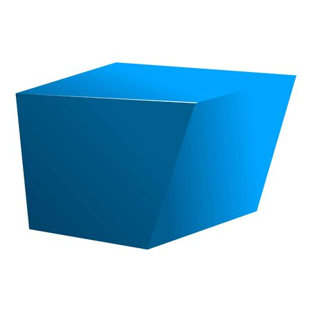Blue cube icon. Cartoon of blue cube vector icon for web design isolated on white background