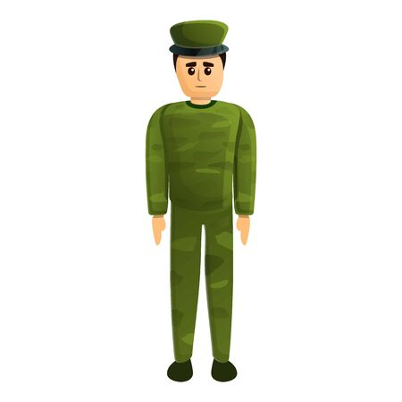 Sad soldier icon. Cartoon of sad soldier vector icon for web design isolated on white background 스톡 콘텐츠 - 133702064