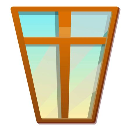 House window icon. Cartoon of house window vector icon for web design isolated on white background 스톡 콘텐츠 - 133702072