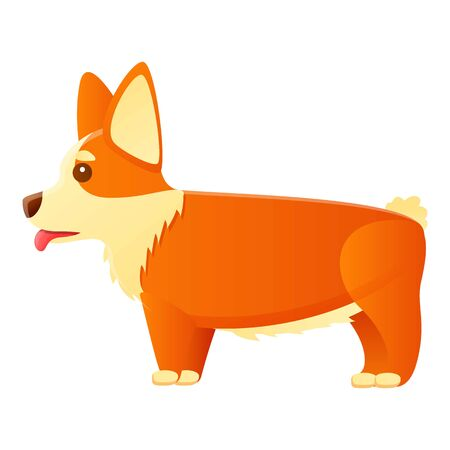 Sad corgi dog icon. Cartoon of sad corgi dog vector icon for web design isolated on white background 스톡 콘텐츠 - 133772782